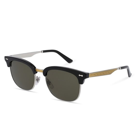 NEW * Gucci GG0055s metal cat-eye top-cover shades